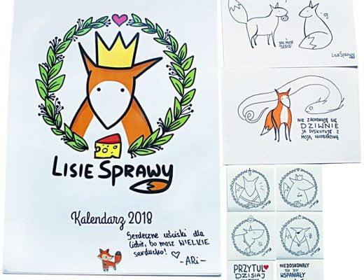 """Uszanowanko, Liski! Na Allegro wystartowała wczoraj aukcja z kalendarzem ściennym """"Lisie Sprawy"""" oraz odręcznymi…"""