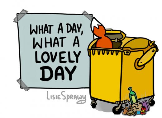 Czasem się tak zdarza, czasem dzień właśnie taki jest. ___ Lisie rzeczy: